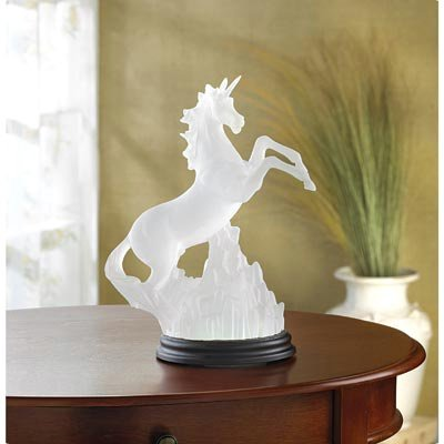 34059 Wholesale Frosted Unicorn with Multicolor Light Small Collectible Items Coin Figure Whmart - Frosted Light Unicorn