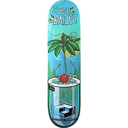 ヒロインピニオンストレンジャーConsolidatedスケートボードSteve Bailey Sproutスケートボードデッキ – 8.12