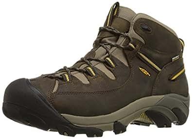 KEEN Men's Targhee II Mid WP Hiking Boot,Black Olive/Yellow,7 M US