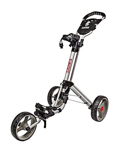 JEF WORLD OF GOLF JR828 Easy Fold Golf Cart, Silver