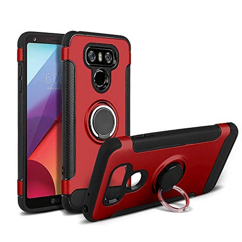 meet b3df6 43496 Heromck Lgg6 Phone Case Lg6 Cases Compatible with Lg G6 6g G6case Cover  Ring Magnetic Defender Hard Bumper Protective 5.7 Inch (Red)