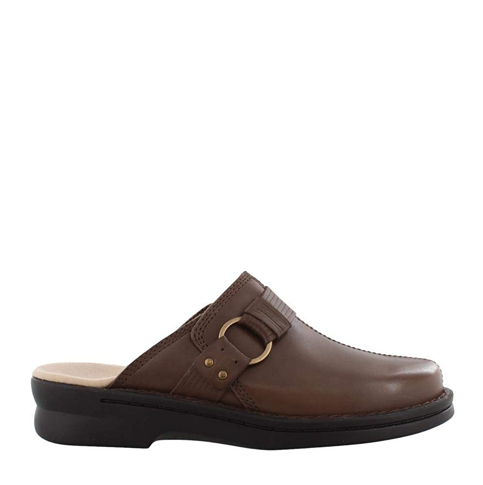Taupe Leather Clarks Womens Patty Lorene Clog shoes