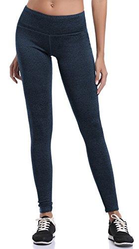 etic Yoga Pants with Hidden Pocket Workout Gym Spandex Tights Legging Color Dark Blue Size XS ()