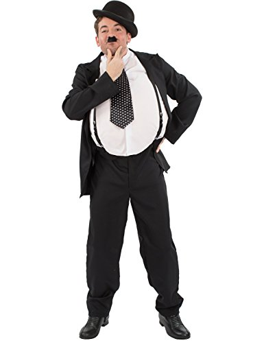 Famous Double Act Costumes (Mens Oliver Hardy Stan Laurel Movie Film Halloween Costume Standard)