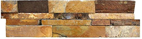 California Gold Ledger Panel 6 in. x 24 in. Natural Slate Wall Tile (Package of 40 Pieces/9.75 per Piece)
