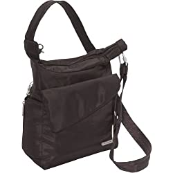 Travelon Anti-Theft Classic Messenger Bag - Exclusive Colors (Chocolate)