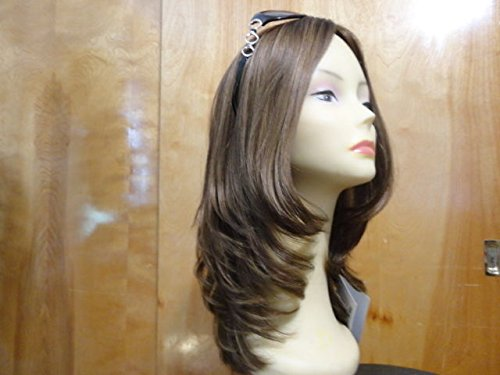 Malky European Sheitel Multidirectional Human Hair Wig Med Brown 10-6-8 stretch