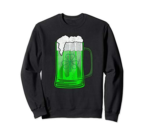 - GREEN SHAMROCK BEER MUG ST PATRICKS DAY Sweatshirt