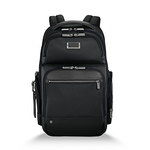 Briggs & Riley @work Medium Cargo Backpack, Black 20 Expandable Mobile Traveler
