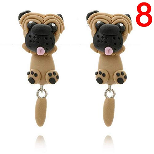 Polymer Clay Animal Earrings Cute Cat Red Fox Stud Earrings -