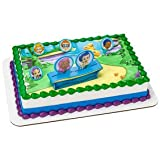 1/2 Sheet Bubble Guppies Gil, Molly and Gang Background with Cake Kit Edible Image Cupcake or Cookie Topper