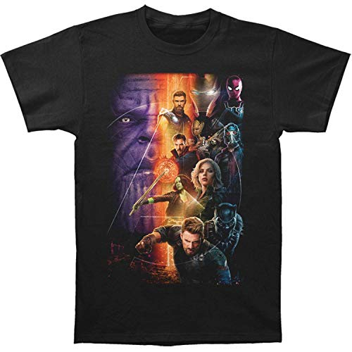 Impact Marvel Comic Avengers Infinity War Movie Poster Heroes T-Shirt