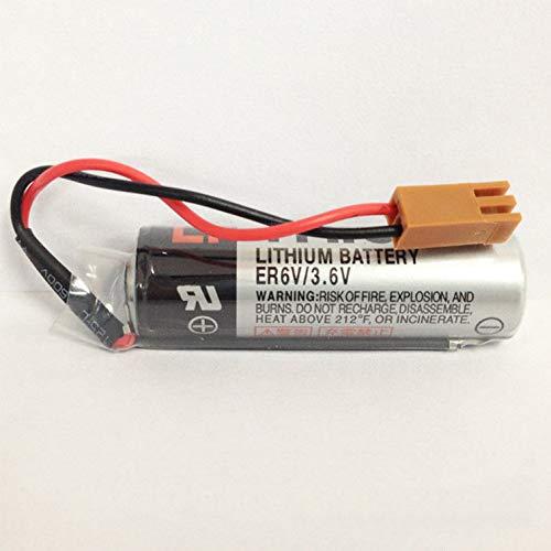 FidgetFidget Battery 2PCS Replacement TOSHIBA ER6V/3.6V 2000mAh PLC With JAE2P Plug
