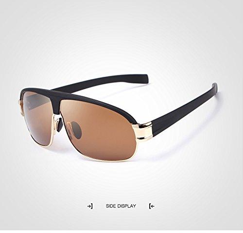 Sol Adultos para para Sol de UV400 diseño Gafas Sol Gold Gafas de Gafas de Color de Hombre Gafas Polaroid de Sol de Moda de Gold Mujer Gafas JCH con Sol qxwS7IAn