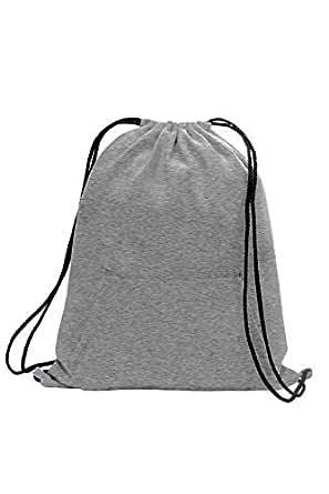 Amazon.com | Soft Cotton Sweatshirt Drawstring Backpack