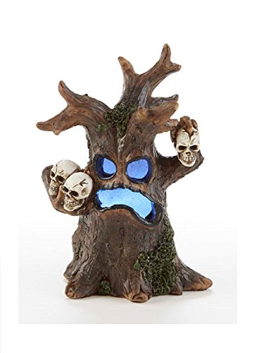 Delton Products Collectible 3.5 inches x 5 inches Resin LED Haunted Tree Figurine -