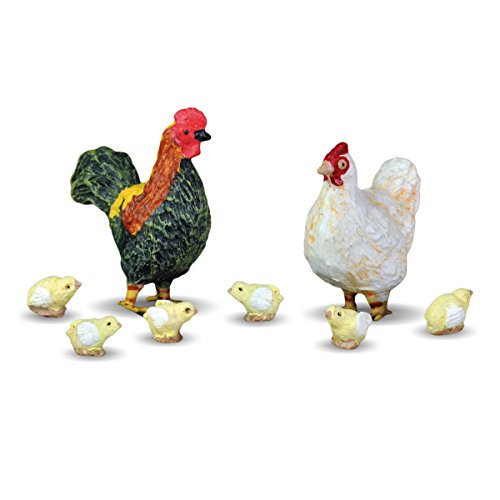 Georgetown Home & Garden Miniature Rooster, Hen and Chicks Garden Decor, Set of 8 For Sale