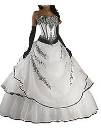 D.W.U Vintage Handmade Long Gothic Wedding Dresses A-line Bridal Gowns