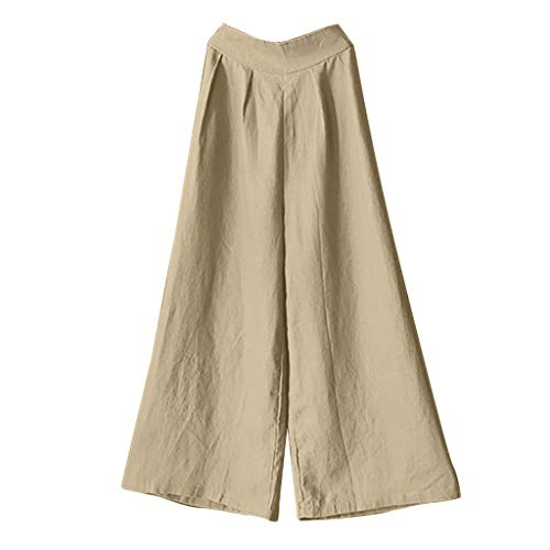 Vowes Women's Palazzo Pants Wide Leg Lounge Pants High-waist Cotton Strength Loose Casual Wide-legged Trousers Pants