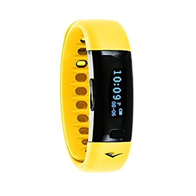 Everlast TR5 - Wireless Fitness Activity Tracker + Sleep Wristband With LED Display - Yellow