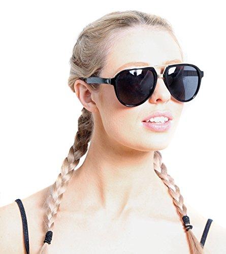 de sol Gafas única para Accessoryo Gold Talla Gafas de Schwarzes negro sol hombre X45xdwdq
