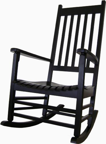 International Concepts R-51866 Porch Rocker, Black (Black Outdoor Rocking Chair compare prices)