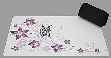 Wahl Schreibtischunterlage Schmetterling auf Blume 40 x 60 cm abwischbar lila 2