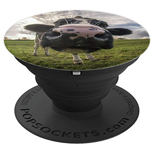 Cow Pop Socket Funny Cows Kissing Cow Photo Gift - PopSockets Grip and Stand for Phones and -