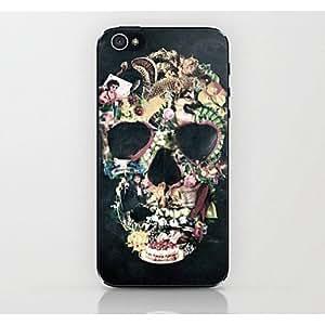 Zaki- Mosaic Skull Pattern Hard Case for iPhone 4/4S