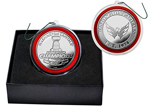 2018 Stanley Cup Champions Washington Capitals Silver Mint Ornament Coin by Highland Mint