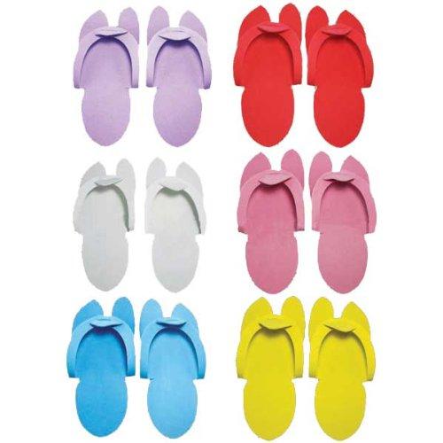 7c1c30e5b Amazon.com   Huini Disposable Pedicure Salon Black Flip Flop Slippers Nail  Foam Foot Sandle 12 Pairs Spa   Beauty