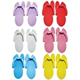 Huini Disposable Pedicure Salon Pink Flip Flop Slippers Nail Foam Foot Sandle 48 Pairs Spa by HUINI