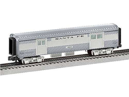 Lionel 684724 Santa Fe Add-On Baggage Car, O Gauge, Silver, Gray, black