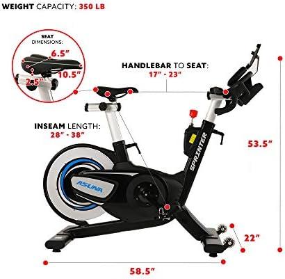 Sunny Health & Fitness 6100 ASUNA - Bicicleta ciclo indoor de ...