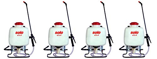 Solo 473-P 3-Gallon Professional Backpack Sprayer, Pressure Range up to 90 psi (Pack of 4)