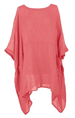 TEXTUREONLINE - Camisas - Básico - para mujer Coral