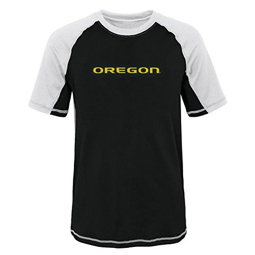 NCAA Oregon Ducks Youth 8-20 Short Sleeve Rash Guard, X-Large (18), White