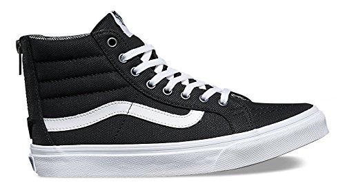 Vans Sk8-hi Slim Zip Tweed Dots Negro / True White 3.5 Hombres / 5 Mujeres