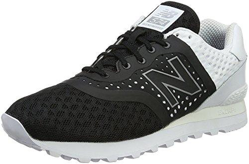 New Balance Mens ML574 Acrylic Pack Classic Sneaker, Negro/Blanco, 44 D(M) EU/9.5 D(M) UK