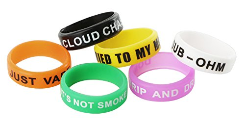 Beautiful-Pack-Of-6-Non-Skid-MOD-Electronic-Cigarette-Silicone-Vape-Ring
