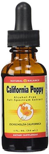 Natural Balance 500 mg California Poppy Extract, 1 Ounce (Tincture Poppy)