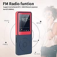 Vorstik Reproductor de MP3, Reproductor de Música HiFi Lossless Sound, Reproductor de Audio Digital de 1,8 Pulgada, hasta 100 Horas de Reproducción, ...