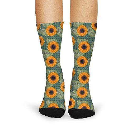 Milr Gile Women's graphic Sunflowers near me Crew Tube Socks Crazy Novelty High Athletic Socks ()