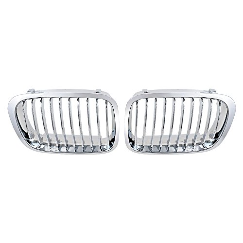 - Chrome Front Hood Kidney Sport Grill Grille for 1998-2001 BMW 3 Series E46 Sedan (2pcs) OE 51138208490/51138208489