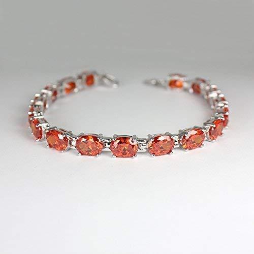 Mexican Fire Opal Bracelet Sterling Silver