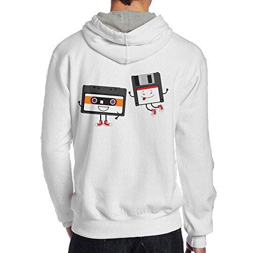 Funny 90S Cassette Men's Pullover Hoodie Sweatshirt Back Print Hoodies