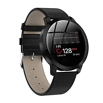 Smart Watch for Kids, Color Screen Fitness Tracker with Heart Rate Monitor Smart Bracelet Waterproof Smart Bracelet with Health Sleep Call/Message Reminder Music Player for Android and iOS, Black