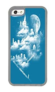 Apple Iphone 5C Case,WENJORS Awesome STAIRWAY TO HEAVEN Soft Case Protective Shell Cell Phone Cover For Apple Iphone 5C - TPU Transparent