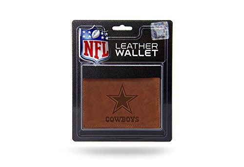 Dallas Cowboys Leather Wallet - NFL Dallas Cowboys Leather Trifold Wallet with Man Made Interior
