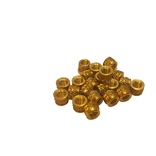 uxcell M3x4mmx5mm Female Threaded Brass Knurled Insert Embedded Nuts 20pcs